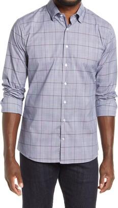Brax Derek Modern Fit Plaid Button-Up Shirt