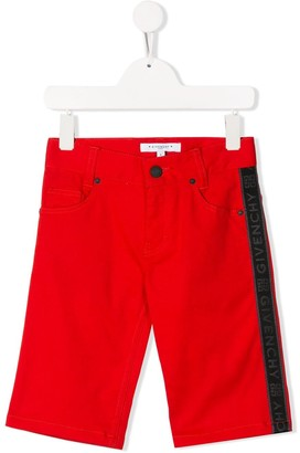 Givenchy Kids logo slim-fit denim shorts