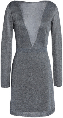 Missoni Open-back Metallic Crochet-knit Mini Dress