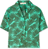 Diane von Furstenberg Printed Cotton-blend Shirt - Jade