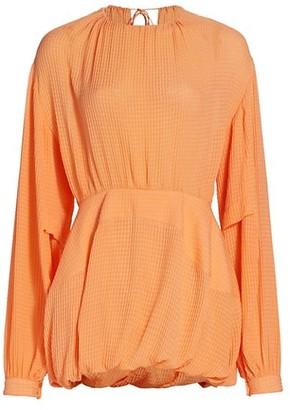 Stella McCartney Amanda Balloon-Sleeve Silk Mini Dress