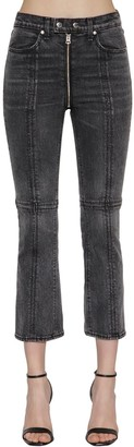 Rag & Bone Iver High Rise Zipped Flared Denim Jeans