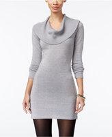 Energie Juniors' Metallic Cowl-Neck Sweater Dress
