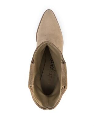 Pedro Garcia Ankle-Length Suede Cowboy Boots