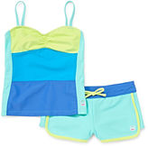 Free Country Color Block Tankini - Girls 7-16