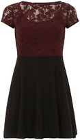 Dorothy Perkins Wine lace top 2in1 dress