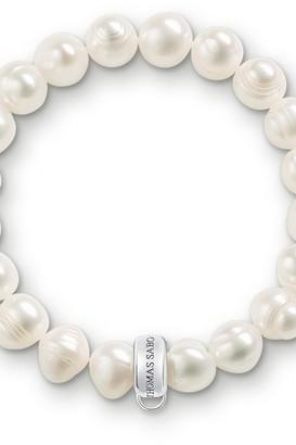 Thomas Sabo Ladies Sterling Silver Charm Club Pearl Charm Bracelet X0041-082-14-XL