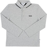 HUGO BOSS LOGO-EMBROIDERED COTTON PIQUÉ POLO SHIRT