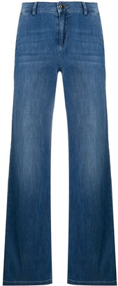 Liu Jo Mid-Rise Wide-Leg Jeans