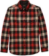 J.Crew Checked Wool-Blend Overshirt