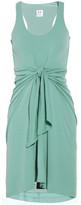 Halston Heritage Tie-front wool-jersey dress