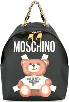Moschino toy bear paper cut out print backpack - women - Polyester/Polyurethane - One Size