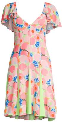STAUD Chiquita Printed Fit-&-Flare Dress