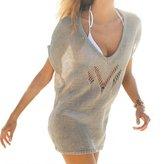 DaiLiWei Women's Crochet Knit Hollow Out Dress Beach Wear Swimsuit Cover Up