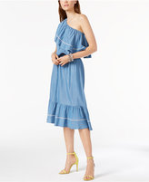 INC International Concepts One-Shoulder Denim Dress, Only at Macy's