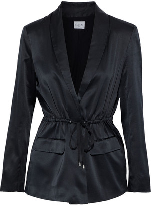 CAMI NYC The Stevie Tie-front Silk-charmeuse Blazer