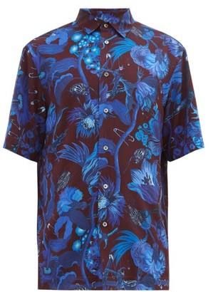 Paul Smith Floral, Beetle And Safety Pin-print Shirt - Mens - Purple