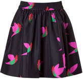 Marc by Marc Jacobs Blue Night Bird Taffeta Skirt