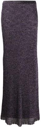 M Missoni Metallic Rib Knit Skirt