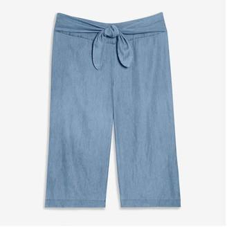 Joe Fresh Women+ Tied Denim Pants, Medium Wash (Size 22)