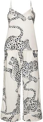 Desmond & Dempsey Jaguar-Print Pyjama Set