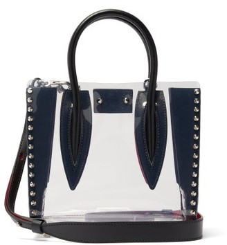Christian Louboutin Paloma Mini Spiked Pvc Tote Bag - Womens - Clear Multi