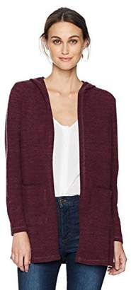 Taylor & Sage Women's Brushed Hacci Hooded Cardigan