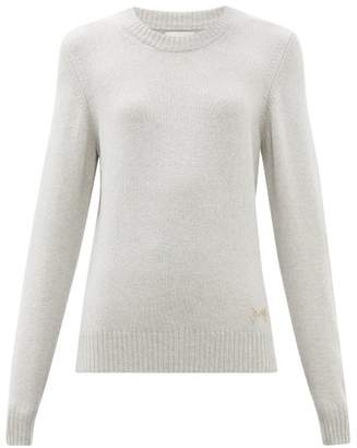 Barrie Logo Plaque Cashmere Sweater - Womens - Light Grey