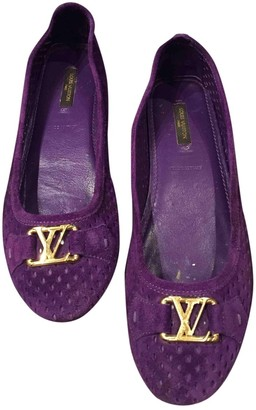 Louis Vuitton Purple Suede Ballet flats
