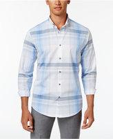 Alfani Men's Morris Plaid Button-Down Cotton Shirt, Only at Macy's