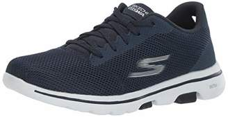 Skechers Women's GO Walk 5 Lucky Trainers, Blue (Navy Textile/White Trim NVW), 6.5 (39.5 EU)
