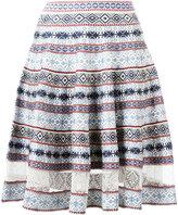 Alexander McQueen knee-length jacquard skirt - women - Silk/Polyamide/Polyester/Viscose - XS