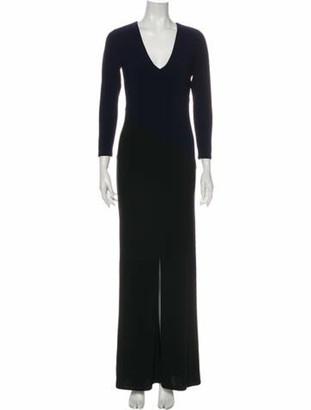 Alice + Olivia V-Neck Long Dress Black
