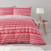 Very Fairisle Christmas 100% Brushed Cotton Duvet Cover Set