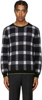 Christopher Kane Black Mohair Check Sweater