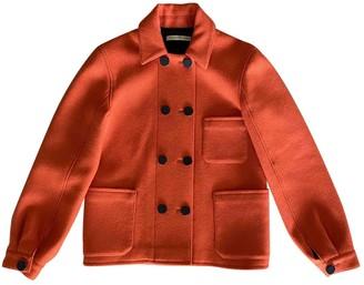 Balenciaga Orange Wool Coat for Women