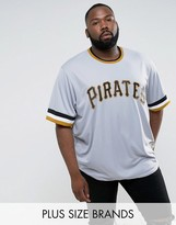 Majestic Plus Mlb Pittsburgh Pirates Overhead Baseball Jersey In Grey