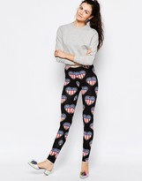 Love Moschino American Heart Leggings
