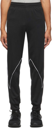 adidas Black and White Big Trefoil Abstract Track Pants
