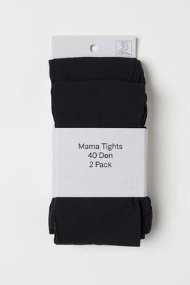 H&M MAMA 2-pack 40 denier tights