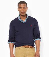 Polo Ralph Lauren Pima Cotton V-Neck Lightweight Sweater