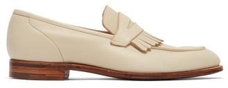 Crockett Jones Crockett & Jones - Julia Fringed Leather Loafers - Womens - White