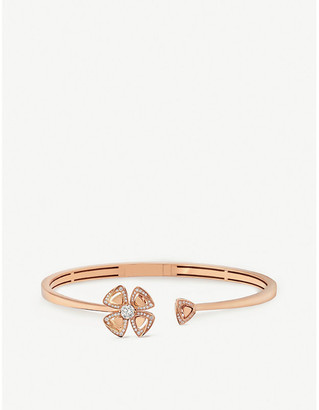 Bvlgari Fiorever 18ct rose-gold and diamond bracelet