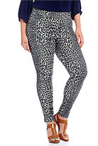 MICHAEL Michael Kors Panther Print Stretch Knit Twill Leggings