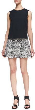 Theory Doreene C Tweedscape A-Line Skirt