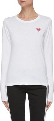 Rag & Bone/JEAN Embroidered heart crewneck T-shirt