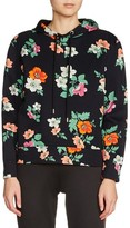 Maje Women's Floral Print Hooded Sweatshirt