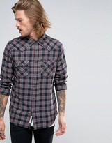 Lee Rider Check Western Shirt Maroon