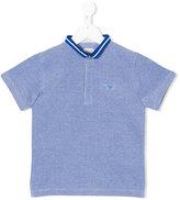 Armani Junior striped collar polo shirt