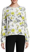 Carolina Herrera Silk Floral Printed Blouse